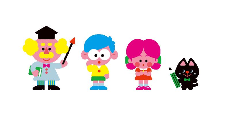 一緒に学ぼう!印刷ガイド キャラクターイラスト